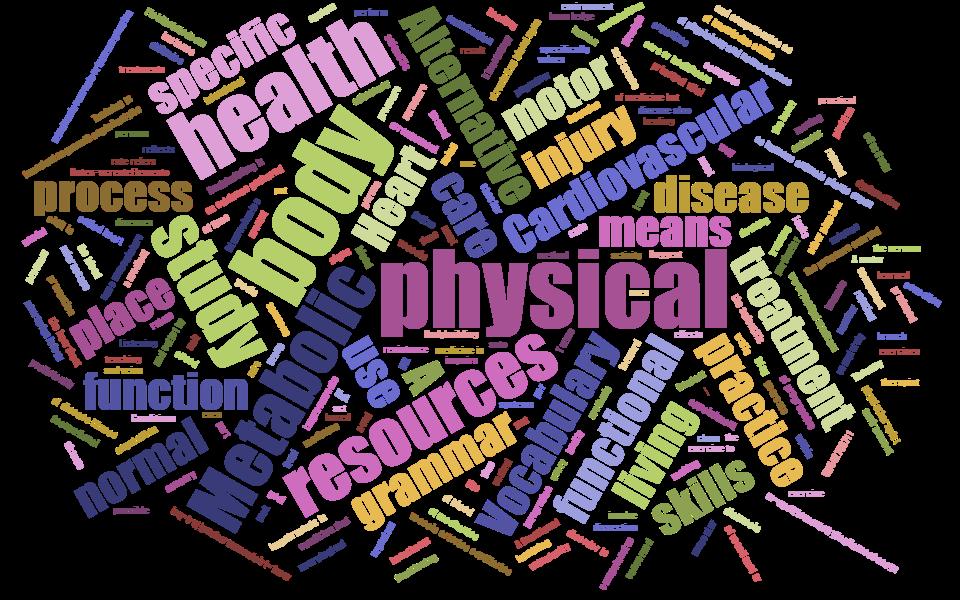 Physical Rehabilitation word cloud